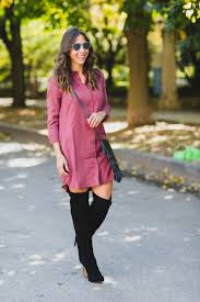 dresses with boots affordable shirtdress and the knee boots for fallchic flavours