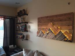 Wood Wall Living Room by Wooden Mountain Range Wall Art By 234studios On Etsy Interesting