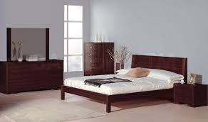 2 457 00 alpha 5 pc bedroom set in teak bed 2 nightstands