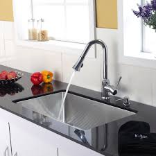 kitchen faucets stainless steel pull out kitchen faucet set kraususa com