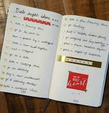 bullet journal date night ideas bullet journal pinterest