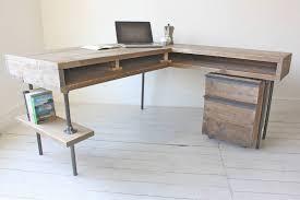 Corner L Shaped Desk Reclaimed Scaffolding Board Industrial Chic Corner L Shaped Desk
