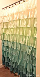 Ruffled Shower Curtains Ruffle Shower Curtain That Stole My In Teal Ideas 15