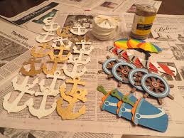diy nautical theme babyshower decorative wall hangings too