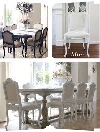 Home Design Before And After Painted Dining Room Furniture Before And After Dining Table