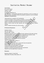Landscaping Skills Resume Sanitation Worker Job Description Resume Resume For Your Job