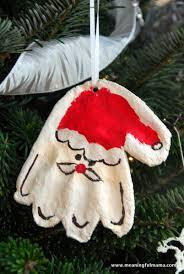 salt dough santa print ornament