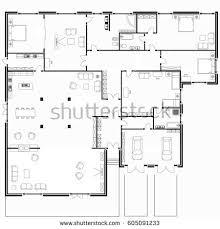 interior floor plans floor plan top view interior design stock vector 730475563