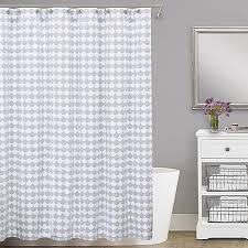 Pictures Of Shower Curtains In Bathrooms Lamont Home Finley Cotton Matelasse Shower Curtain Bed Bath