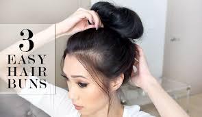 hair buns images 3 easy bun hairstyles lesassafras