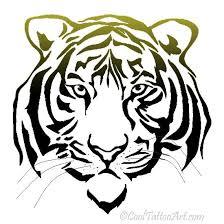 30 best cool tiger tattoo stencils images on pinterest coloring