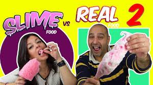Challenge Reto Real Food Vs Slime Food Challenge Reto Slime Vs Comida Real