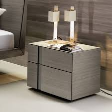 bedroom table ls set of 2 muse 2 drawer bedside table grey oak