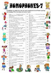 homophones 7 editable with answer key