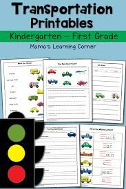transportation worksheets for kindergarten and first grade mamas