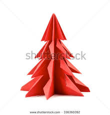origami christmas tree stock images royalty free images u0026 vectors