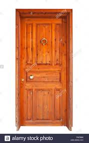 Wooden Main Door by Wooden Main Door Isolated On White Background Stock Photo Royalty