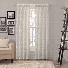 Homestyle Carbon Loft Gutenberg Window Curtain Panel Pair 56x63