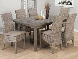 Banana Leaf Armchair Weathered Driftwood Grey Dining Table Banana Leaf Parsons Chairs