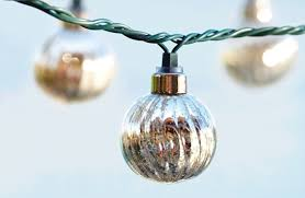 mercury glass string lights housewares outdoor lights