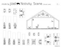 made by joel travel size paper city nativity scene small