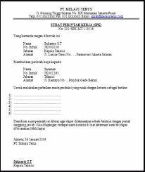 contoh dan cara membuat surat perintah kerja untuk karyawan suatu