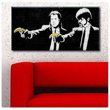 banksy home decor online shop pulp fiction banana banksy print canvas art print