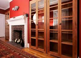 Cherry Bookcase With Glass Doors These Freestanding Cherry Bookcases Home