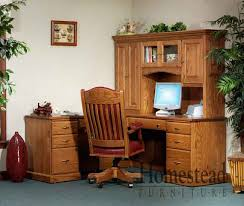 Small Oak Desk With Hutch Custom Built Hardwood Furniture By Homestead Furniture Made In Usa