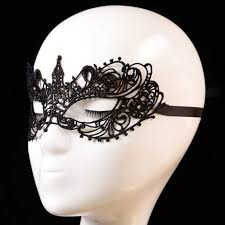 Black Mask Halloween Costume Girls Woman Lady Cutout Black Mask Lace Masque Face Party