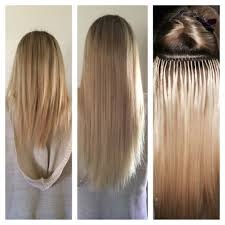 micro bead hair extensions add length and volume quickly and easily with looking hair