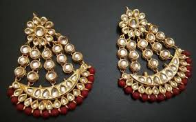 buy earrings online buy designer kundan earrings with pasha style online