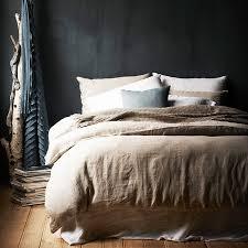 washed linen duvet cover u2013 natural celadon