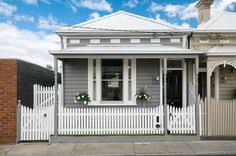 cute little house grey and white weather boards curb appeal