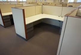 Knoll Reception Desk Knoll L Shaped Workstation W Frosted Privacy