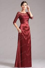 robe de cocktail longue pour mariage robe de soirée longue dentelle bordeaux pour mariage x26121817