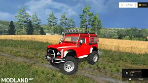 land rover mod land rover defender offroad v 1 0 mod for farming simulator 2015