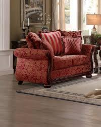 Red Loveseat Homelegance Grande Isle Sofa Set Red Printed Fabric 8234rd Sofa