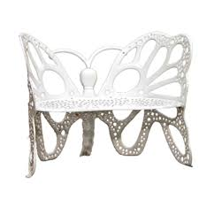 Outside Benches Home Depot by Flowerhouse White Cast Aluminum Butterfly Patio Bench Fhbfb06w