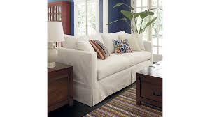 Slipcovered Sleeper Sofa Slipcover Only For Willow Queen Sleeper Sofa Crate And Barrel