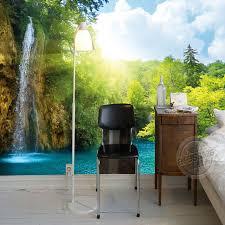 Bedroom Water Feature 3d Waterfall Wallpaper Natural Scenery Photo Wallpaper Custom Wall