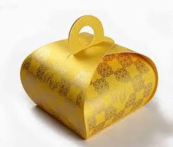 indian wedding gift box wedding party favor box in yellow color