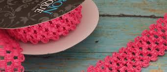 crochet elastic ribbon elastic waffle crochet ribbon in hot pink 2 yards x 1 5