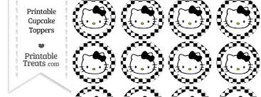 hello cupcake toppers free black checker pattern hello cupcake toppers printable