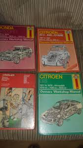 large collection of old car hand books in derry n ireland retro