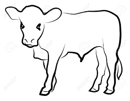 calf silhouette isolated on white royalty free cliparts vectors