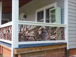 outdoor ideas best wood for deck railing front porch handrail