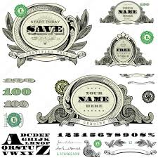 vector money and frame template set stock vector createfirst