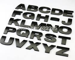 metal letters 10 pieces lot 3d metal letters emblem digital number chrome diy car