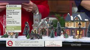 lit handpainted around the town set by valerie page 1 qvc
